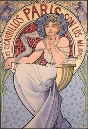 Alfons Mucha, Los Cigarrillos Paris son los mejores, 1897, Richard Fuxa Foundation